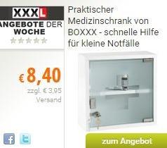 [LOKAL XXXL] Medizinschrank für 8,40€ (8,05€ mit qipu.de) im xxxlshop.de mit kostenlosem Versand bei Selbstabholung im Möbelhaus