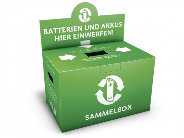 GRS-Batterien Rücknahme Karton oder Fass