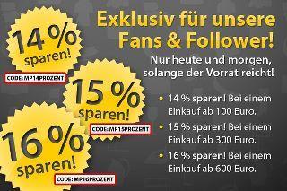 Bis zu 16% bei MeinPaket 2000€ Höchstbestellwert! [Nur Heute und Morgen!]