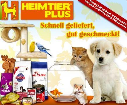Heimtier Plus - Rabatt auf Tiernahrung und aktuell 4:3 Aktion bei DailyDeal Berlin
