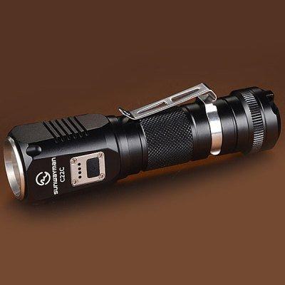 Sunwayman C22C LED Taschenlampe für 18650 Li-Ion Akkus 1000 lumen