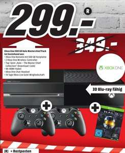 [Lokal Mediamarkt Sulzbach] XBOX One 500GB + 2.Controller + Halo-The Master Chief Collection(DL Code) für 299,-€