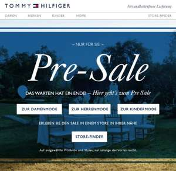 Tommy Hilfiger Pre-Sale 30% Rabatt