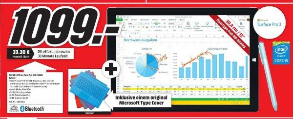 [Lokal Media Markt Mainz] Microsoft Surface Pro 3 i5 256GB