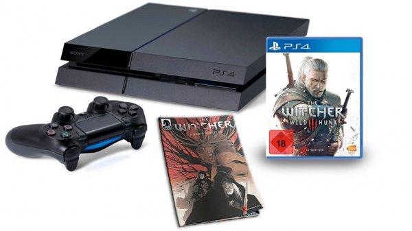 Playstation 4 + Witcher 3 Wild Hunt bei MM Online & Filialen