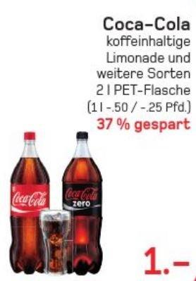 [Lokal Wuppertal-Steinbeck] Coca Cola 2l für 1€ @ Akzenta