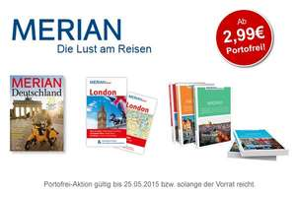 Portofrei: Neue Merian Reiseführer ab 2,99 EUR
