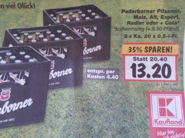 [lokal Paderborn] Paderborner Pils 3 für 2, also 4,40 pro Kasten, bei Kaufland