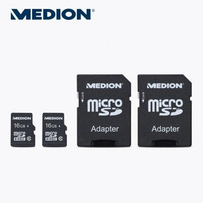 [ALDI NORD]  2 × 16 GB¹ microSDHC-Speicherkarte inkl. SD-Adapter ab 28.05.