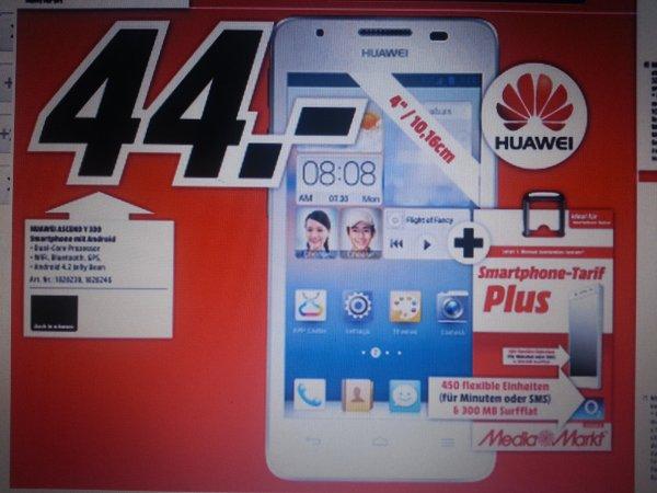 [Lokal MM Heppenheim] Huawei Ascend Y330 inkl. MM Prepaid Karte für 44€