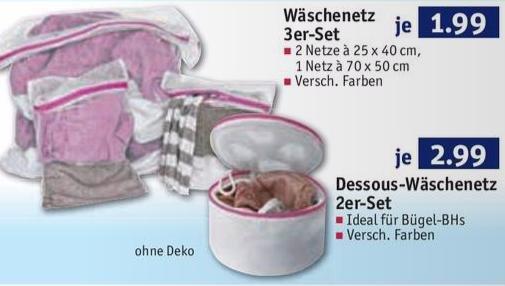Wäschenetze bei ROSSMANN: 3er-Set für 1,99€, 2er Dessous-Set für 2,99€