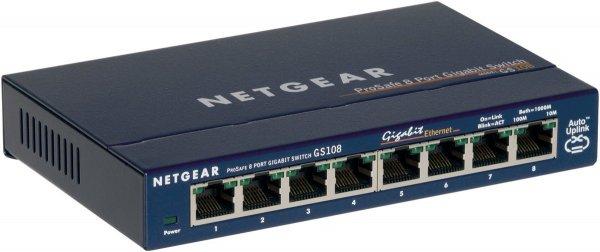 (Amazon.de-Prime) Netgear GS108 GE 8-Port Gigabit-Kupfer-Switch Lüfterlos 21,50€