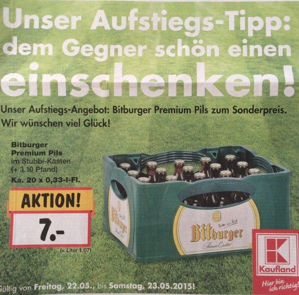 Bitburger Premium Pils Stubbi für 7 Euro bei diversen Kaufland Filialen im Südwesten
