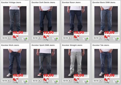 Alles 10€ bei Shakk.de ! z.B. Escobar Jeans Hosen uvm. ! (EINMAL 10€ GUTSCHEIN ZU VERSCHENKEN)