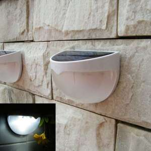[Banggood] Solar 6 LED Light Outdoor Fence Roof Up-Stair Wall Mounted Yard Lamp