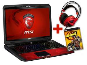 [Getgoods] MSI GT70PH (17,3'' FHD matt, Intel Core i7-3630QM, 12GB RAM, GeForce GTX 675MX mit 4GB dediziert, 750 GB HDD + 2x 64 GB SSD, Windows 8) + Siberia v2 Headset + Borderlands 2 für 906€