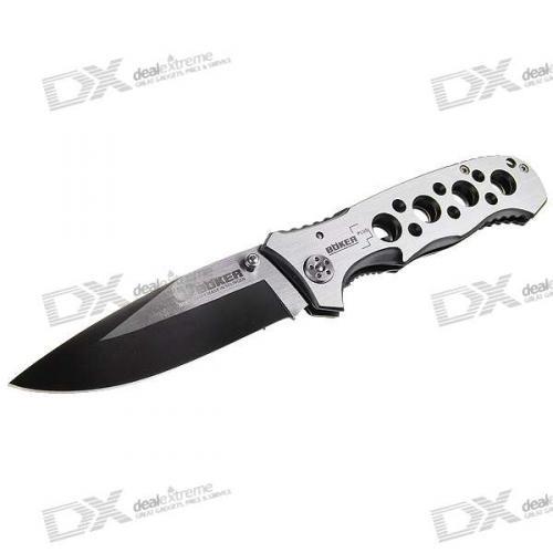 Mini Steel Manual-Release Folding Knife (20cm Full-Length)