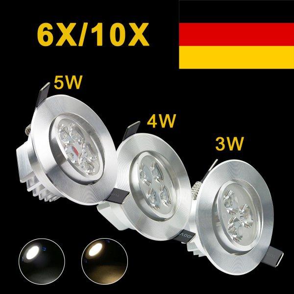 Ebay: 6x LED-Einbauleuchte 3-5W Strahler Downlight Decken Lampe ab 20.69€