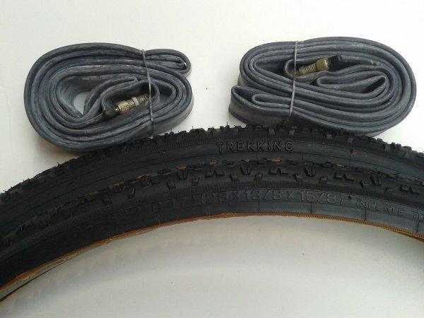 (Ebay) 1 Paar Fahrradreifen + 1 Paar Schläuche (Größe: 35 - 622 28x1 3/8 x 15/8) - 2. Wahl (Neuware) - 14,95€