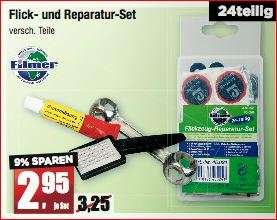 [Offline Mäc-Geiz ab 26.5] 24teiliges Flickzeug Set inklusive Reifenheber & Knochenschlüssel