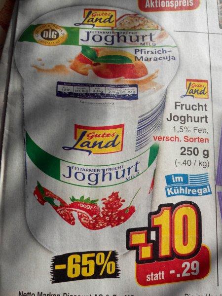 Netto ohne Hund Fruchtjoghurt für 0,10 € Bananen 1 kg 0,99 €
