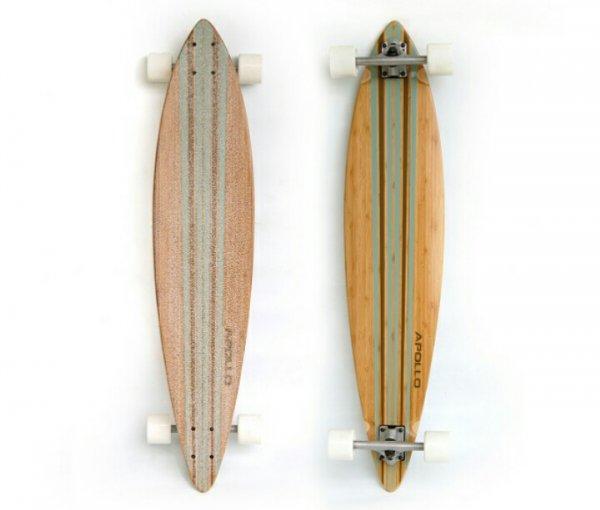 """[Groupon] Einige Longboards von Apollo wie z.B. das """"Apollo Longboard Turquoise Stripes Pintail"""""""