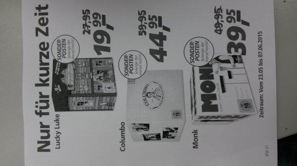 (real offline) Monk, Columbo & Lucky Luke Komplettboxen ab 19,99€