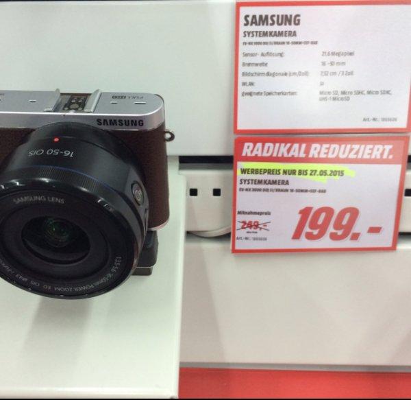 [Lokal Media Markt Kirchheim Teck/ Nürtingen] Samsung NX3000 16-50mm in Braun für 199€