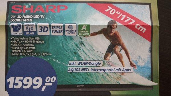 "(Lokal Bielefeld) Sharp Aquos 70"" FullHD LED TV inkl. WLAN Dongle"