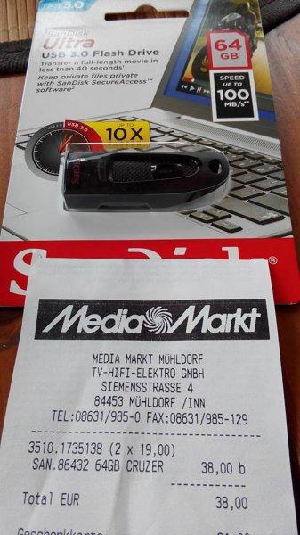 SANDISK Ultra® SDCZ48-064G-U46 64 GB USB 3.0 Flash-Laufwerk MM - Mühldorf 19,00 €