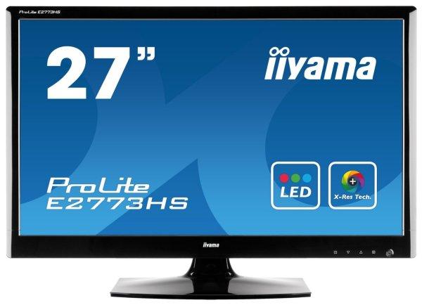 "Iiyama ProLite E2773HS-GB1 27"" Widescreen WLED Monitor (DVI, HDMI, 1ms Reaktionszeit) für 194,54 € @Amazon.co.uk"