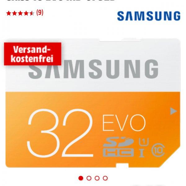 [Mediamarkt]SAMSUNG 32 GB SDHC Speicherkarte