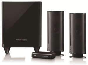 Harman/Kardon HKTS 200 BQ W 2.1 Lautsprechersystem, Aktiv Subwoofer, wireless @Amazon.es