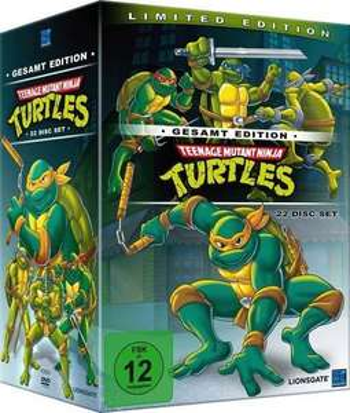 Teenage Mutant Ninja Turtles - Gesamtedition - (DVD)Turtles Box (Folgen 1-169) für 28,99€ - 5,00€ NL GS = 25,98€ inkl. Versand @Saturn.de