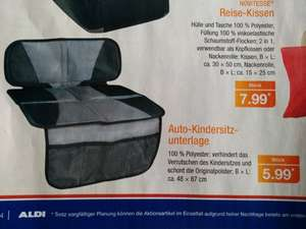 [ALDI Nord] Auto Kindersitzunterlage (ab 28.5.15)