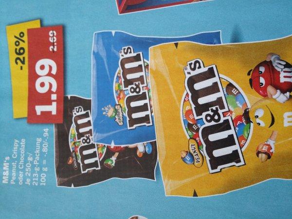 M&M verschiedene Sorten 1.99€ ab 26.5. bei Lidl