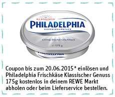 [REWE Bundesweit] Philadelphia Frischer Genuss 175g kostenlos