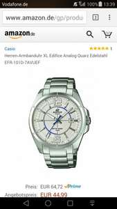 [Amazon] Casio Herren-Armbanduhr XL Edifice 44,99 EUR Blitzdeal