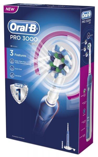 Braun Oral-B PRO 3000 elektrische Zahnbürste, Modell 2014 für 53,59 € @Amazon.co.uk