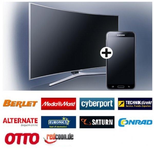 Samsung Galaxy S5 gratis: Beim Kauf eines neuen Samsung TV (ausgewählte Geräte) bis 07. Juni 2015 !