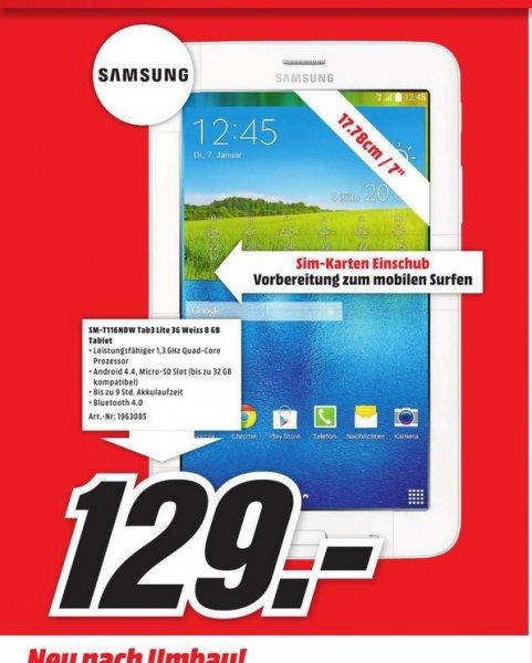(Lokal Krefeld)SAMSUNG Galaxy Tab 3 Lite 3G für 129,iPad Air 16gb wifi für 299€€ @ Mediamarkt