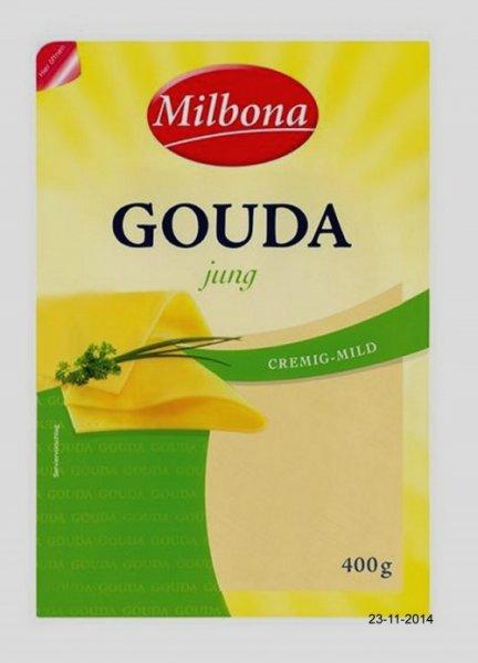 [LIDL] Milbona Gouda, in Scheiben, 400 g - am 30.05.2015 - für 1,49