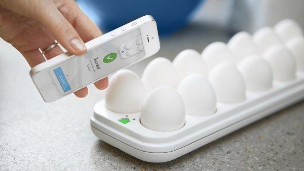 Egg Minder WLAN 14er Eierbox mit Haltbarkeits- und Statusanzeige per APP @ Amazon.com