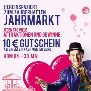 10€ Gutschein bei 50€ Einkauf im Loop 5 Weiterstadt/Darmstadt (Effektiversparnis 16,66%)