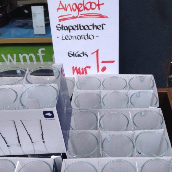 [lokal] leonardo gläser für 1€ @ WMF göttingen  innenstadt