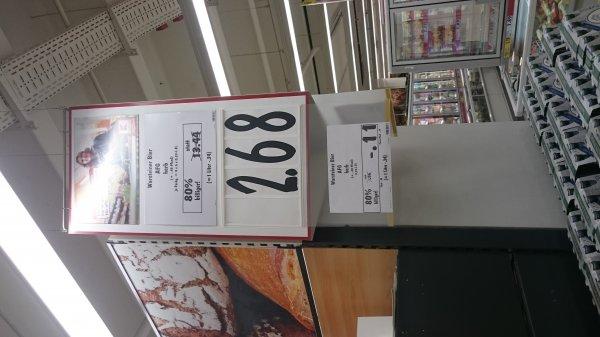 (lokal Jena-Lobeda) Kaufland: 24er Kasten Warsteiner Alkoholfrei herb für 2,68 (plus Pfand)