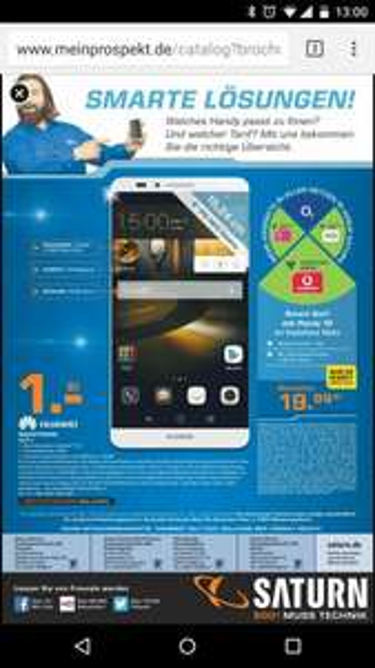 [lokal] Saturn Troisdorf: Huawei Mate 7 mit MD VF 1GB (14,4MB/s)/50 Minuten