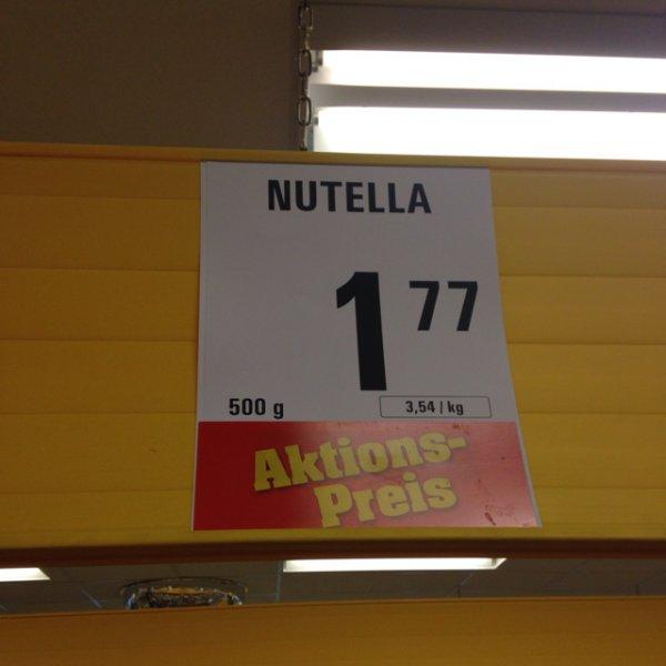 Lokal: Nutella bei Netto am UBH Fehrbelliner Platz in Berlin 1,77€ 500g
