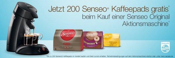 [Amazon.de] 200 Senseo-Pads gratis beim Kauf einer Philips Senseo HD7817 Aktionsmaschine