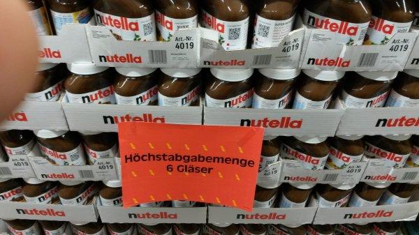 Nutella 800 gr für 2,59€ im EDEKA E-Center (Regional?) max 6stk. pro Einkauf